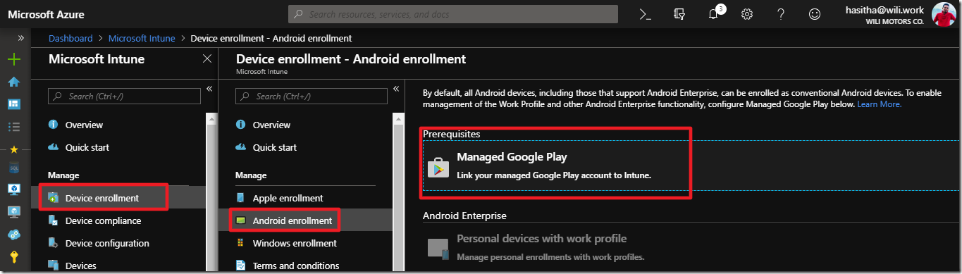 How to Connect Microsoft Intune to Google Play account for